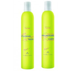 Stylingový balíček BBcos Keratin Perfect Style lak Finishing Touch 500 ml + tužidlo Volumizing Cloud 500 ml