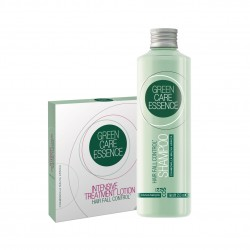 Sada proti vypadávaniu vlasov BBcos Green Care Essence šampón Hair Fall 250 ml + ampule Intensive Treatment 6 x 8 ml