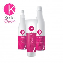Sada BBcos Kristal Basic Mandľový šampón 500 ml + mandľový krém 400 ml + spray Styling Fixer 250 ml